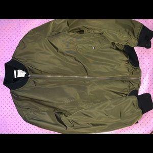 Zara olive green bomber jacket size medium
